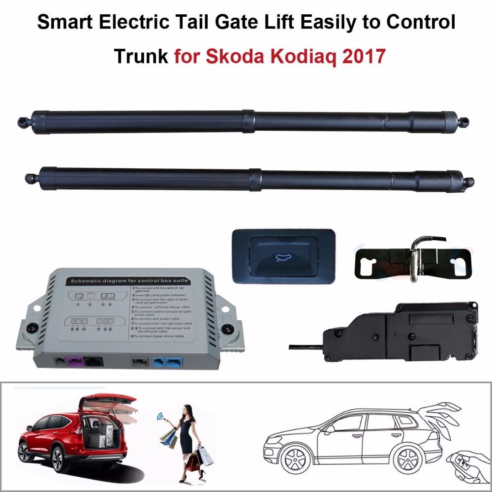 Smart Auto Electric Tail Gate Lift For Skoda Kodiaq 2017 Control Set Height Avoid Pinch With Latch
