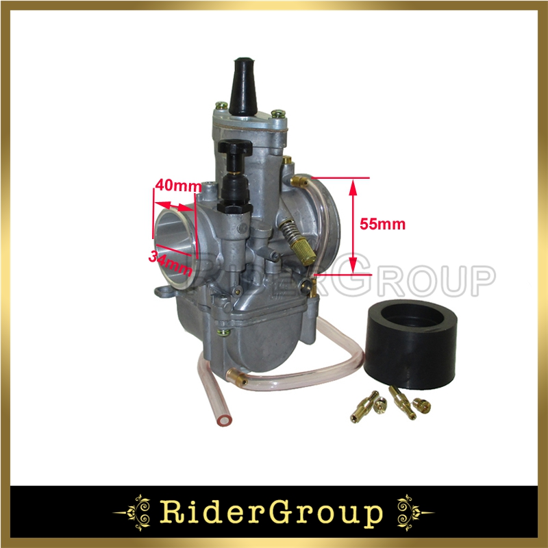 Nero Carburatore PWK per Moto da 34 mm per Honda Suzuki Kawasaki Yamaha da 125 CC a 250 CC ATV Dirt Bike
