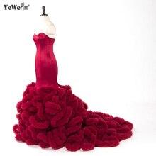 YEWEN royal blue Pink Luxury Black Mermaid Wedding Dress