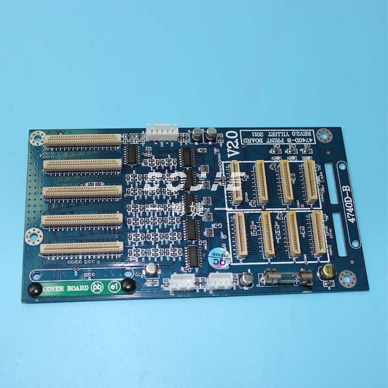 Xenons dx7 printhead inkjet printer kepala ganda papan papan kereta