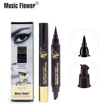 Music Flower Matte Black Liqiud Eyeliner Pen Tattoo Seal Waterproof 24H Long-lasting Smudge-proof Quick-Dry Dropshipping