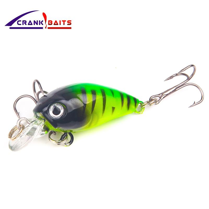 CRANK ISCAS de pesca Perfeito equipamento profissional Quente iscas de pesca crank 45mm/4.2g de mergulho 3.2 m cores diferentes iscas duras YB24