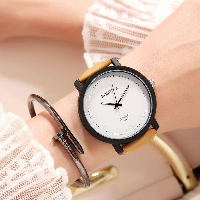 18290782751 Clássico simples Dial Analógico Quartz Relógio de Pulso Presente do Negócio  Vestido de Couro para As