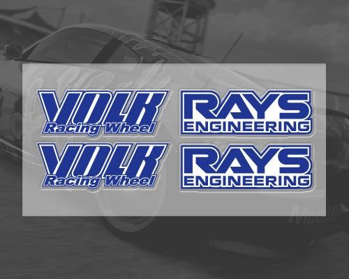 Us 329 6 Offetie Volk Rays Auto Aufkleber Für Rad Auto Tuning Volk Racing Selbstklebende Wasserdichte Motorrad Zubehör Für Audi Vw Toyota In