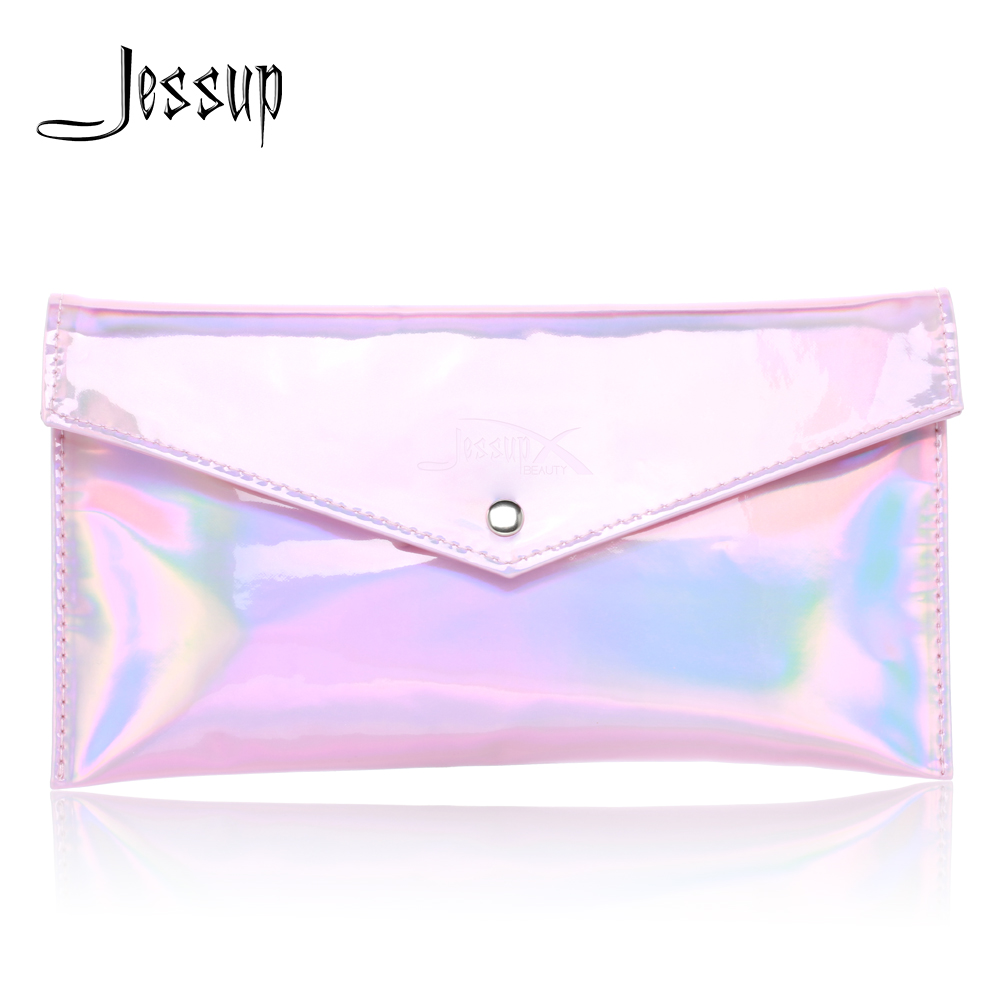 Jessup Pink Cosmetic bag set for Makeup accessories Women bags Make up tools Travel beauty case CB003