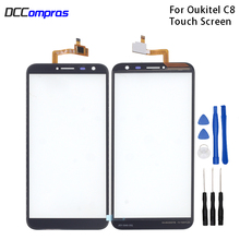 Original Touch Screen For Oukitel C8 Touch Panel Glass Replacement For Oukitel C8 Touch Panel Free Tools touch panel original for gt gunze usp 4 484 038 g 28 for touch membrane screen touch pad