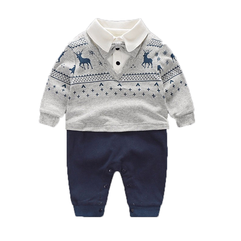Baby Boy Rompers Pure Cotton Newborn Baby Clothes Gentleman Style Bow Tie Jumpsuit Toddler Boys Clothing 2017 Summer Roupas Bebe baby rompers cotton long sleeve 0 24m baby clothing for newborn baby captain clothes boys clothes ropa bebes jumpsuit custume