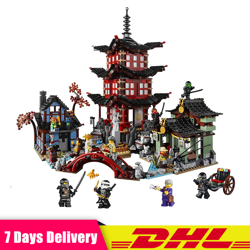 IN Stock LEPIN 06022 2150Pcs Ninja Temple of Airjitzu Jay Kai Cole Building Blocks Bricks Set Toys Compatible LegoINGlys 70751 рубашка с длинными рукавами john richmond рубашка с длинными рукавами