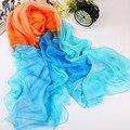 2017 spring summer fashion sexy high quality long mitated silk fabric chiffon grey scarf shawl women beach towels scarf wj49