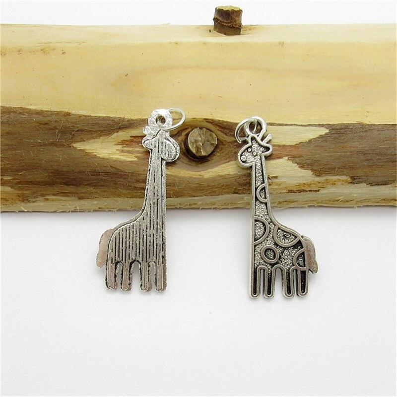 c26a61047196 65 unids (31 12mm) plata antigua encanto jirafa aleación colgante europeo  apto collar de las pulseras DIY metal fabricación de joyas