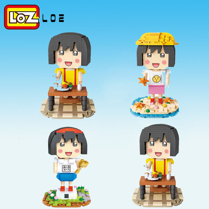LOZ Mini Blocks Chibi Maruko Chan Doll School Moc Block