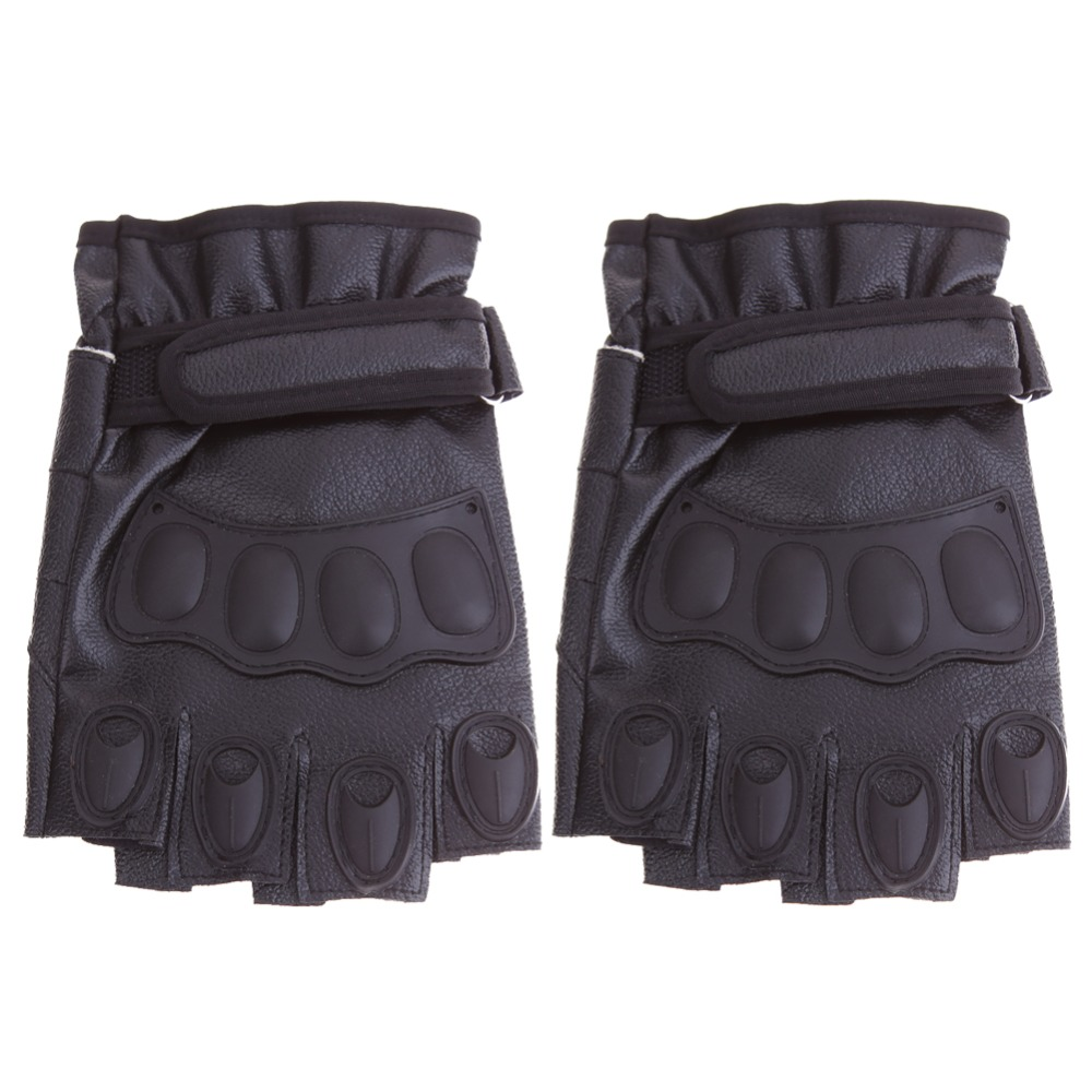 Buy leather motorcycle gloves - Leather Fingerless Motorcycle Gloves