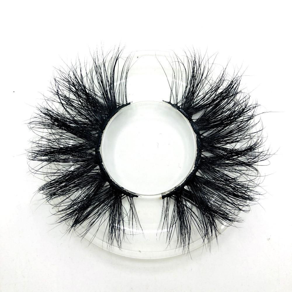 New Arrival Mink Lashes 25mm Natural Long 3D Mink Strip Fur Handmade Eyelashes Wholesale Price