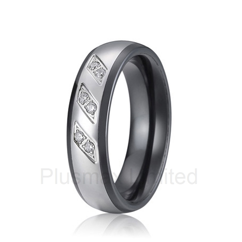 anel feminino titanium steel jewelry Manufacturer his and hers direct black ceramic wedding band ringsanel feminino titanium steel jewelry Manufacturer his and hers direct black ceramic wedding band rings