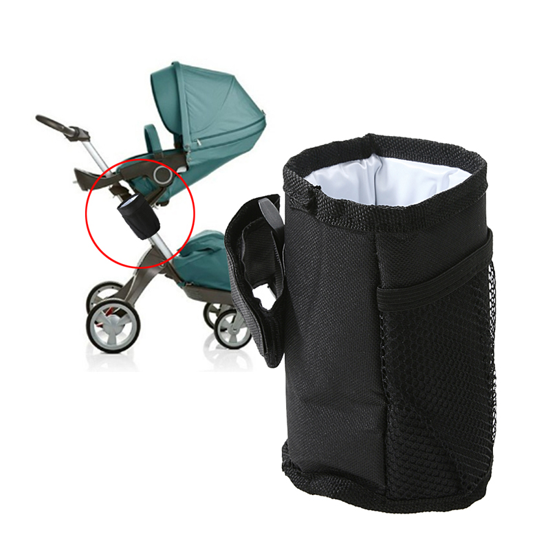 все цены на Baby Pram Stroller Accessories Waterproof Stroller Insulated Cup Holder Bottle Drink Holder Baby Stroller Organizer Bag