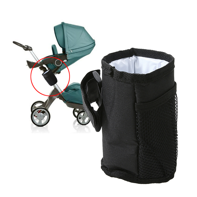 Baby Pram Stroller Accessories Waterproof Stroller Insulated Cup Holder Bottle Drink Holder Baby Stroller Organizer Bag