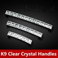 96mm glass kitchen cabinet handle silver drawer dresser cupboard door pulls clear crystal furniture chrome handles pulls