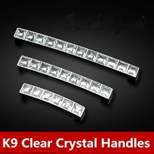 96mm glass kitchen cabinet handle silver drawer dresser cupboard door pulls clear crystal furniture chrome handles