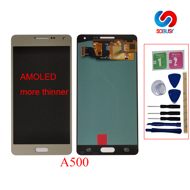 Replacement Super AMOLED LCDs For Samsung Galaxy A5 2015 A500 A500F A500FU A500H A500M Phone LCD Display Touch Screen DigitizerReplacement Super AMOLED LCDs For Samsung Galaxy A5 2015 A500 A500F A500FU A500H A500M Phone LCD Display Touch Screen Digitizer