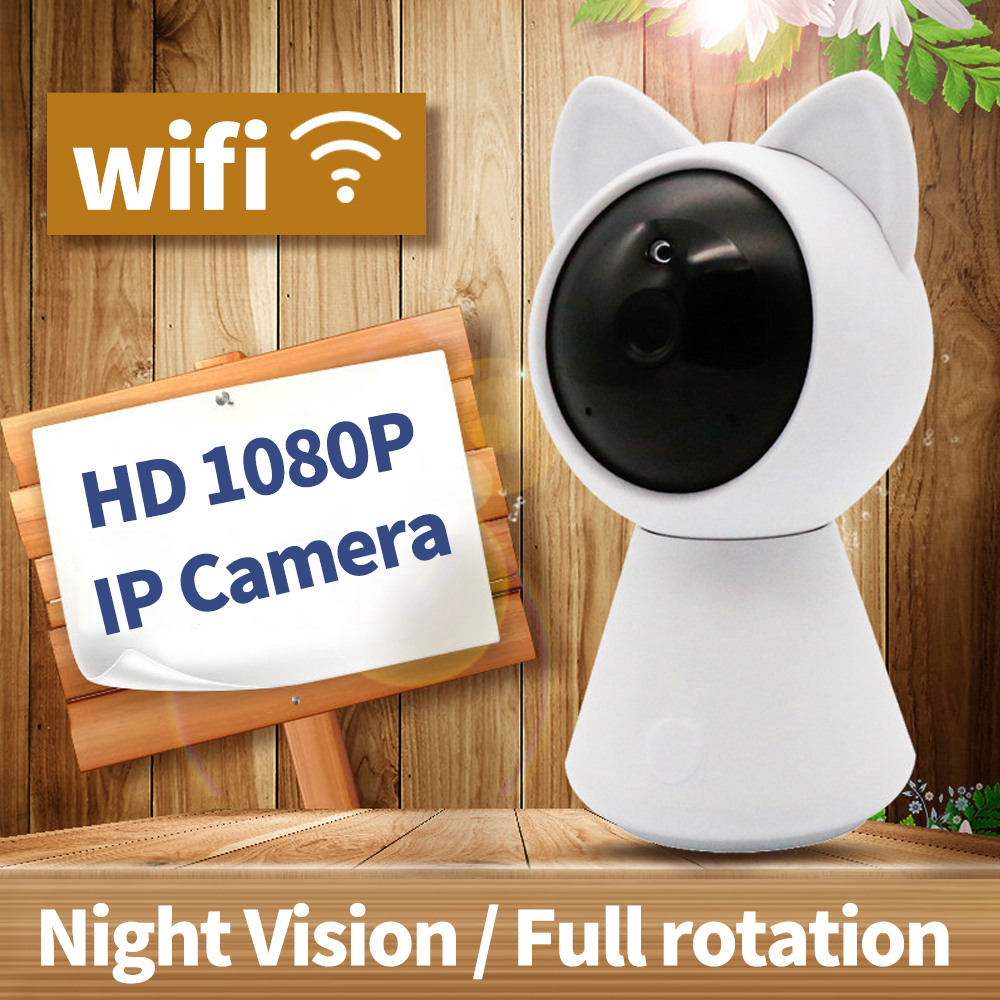 Mini 1080p HD ip Wifi Camera CCTV wi-fi security wireless 360 home camera Night Vision support two-way audio use yoosee software smart mini camera wifi support two way audio night vision sd card onvif motion detect camera with wifi for home security