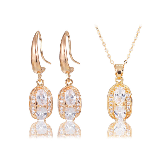 2017 Dubai Italian Designers Jewelry Sets Woman Jevelri Zircon Necklace Earrings Online Artificial Jewellery