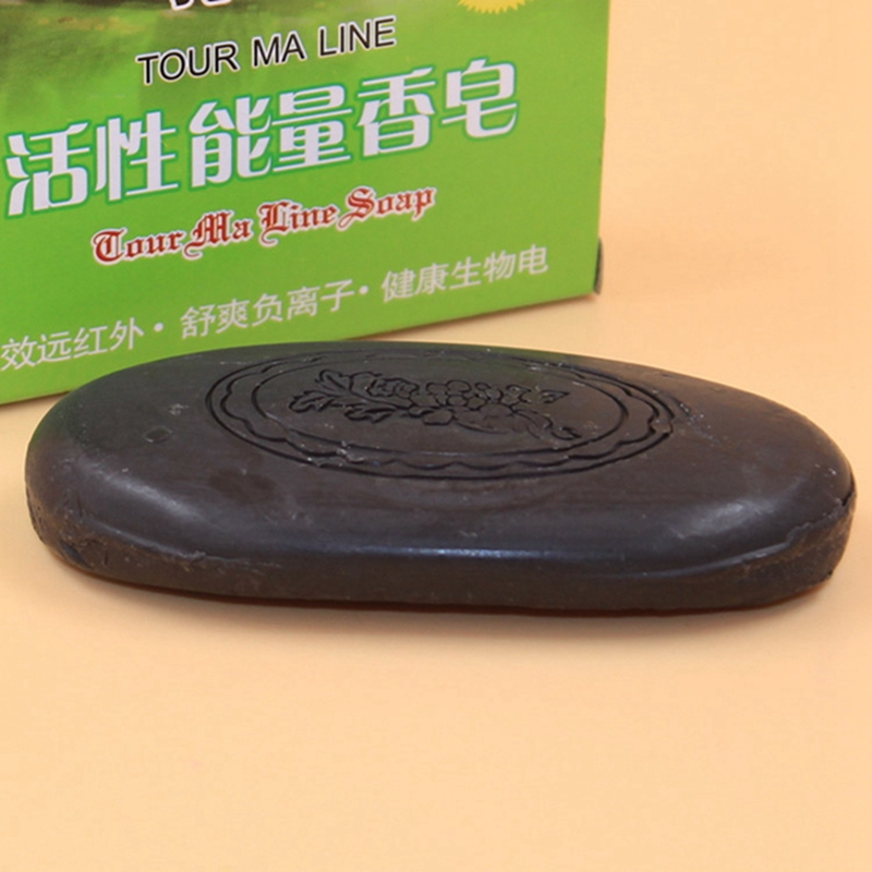 Newest Active Energy Bamboo Tourmaline Soap For Lady Female Women Face Hand Body Healthy Care