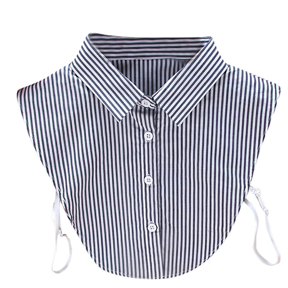 Newhot Product Women New Stripe False Collar Clothes Shirt