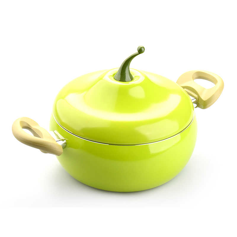 20 ซม.ห้องครัวซุปหม้อผลไม้Pan Non-Stickกระทะอลูมิเนียมหม้อต้มมะเขือเทศรูปร่างไม่มีควันทำอาหารในครัวเรือนเครื่องมือเครื่องครัว