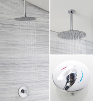 Shower head in bathroom is concealed installed into wall type rain shower big head ceiling shower wx6021145