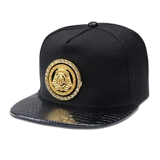 97e241e4 Original rotating Pharaoh standard metal HIP HOP hip-hop hat flat brimmed  hat Tide brand