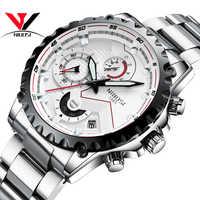 NIBOSI 男性スポーツ腕時計トップブランドの高級防水ミリタリー腕時計 2018 シルバー色メンズ腕時計日付 Montre オム