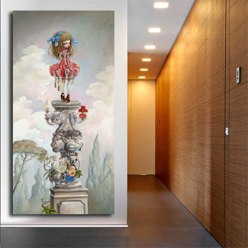 Mark Ryden Pop Surreal Canvas Painting Print Bedroom Home Decoration Modern Wall Art Oil Painting Poster Picture Framework HD in Painting Calligraphy from Home Garden