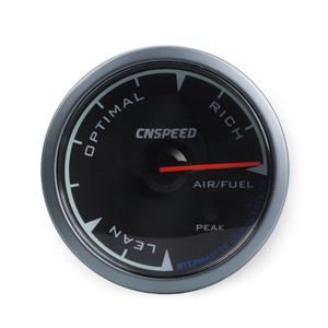 """Image 3 - CNSPEED Shark pin 7 Colors 2.5""""60mm Auto Air Fuel Ratio Gauge Car Air Fuel Ratio Meter Black Face Car Meter LED With Holder"""