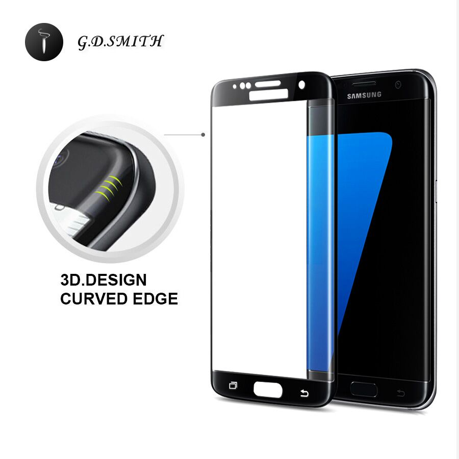 G.D.SMITH 3D <font><b>Full</b></font> Cover <font><b>Tempered</b></font> <font><b>Glass</b></font> <font><b>Screen</b></font> Protector <font><b>For</b></font> Samsung Galaxy S7 Edge Safety <font><b>Protective</b></font> <font><b>Film</b></font> Retail and Wholesale