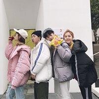 2018 Spring And Summer Korean Men And Women Short Paragraph Cotton Breadsuit Couple Winter Coat Tide