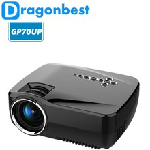 GP70UP Android 4.4 Projector 1200 Lumens Analog TV LED Projector Wifi Projector Support 1920x1080P for Home Theater Smart TV Box