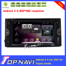 Newly Pure Android 4.4 Car DVD Player For Toyota Corolla With GPS Free Map Radio Bluetooth Capacitive Touch Screen