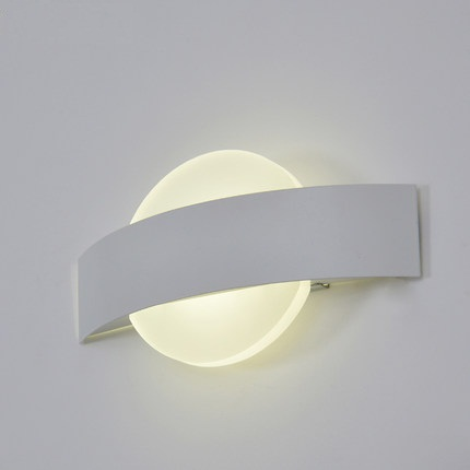 Simple Modern LED Wall Light Fixtures For Home Lighting Integrated Acrylic Wall Sconce Bedside wall Lamps Lampara Pared simple art modern led wall light fixtures for home indoor lighting acrylic round wall sconces bedside wall lamps lampara pared
