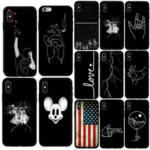 Fashion Spider Case Soft America Iron Man  For Apple iphone X 7 8 6 6s Plus 5s SE XS Max Phone Cover Coque