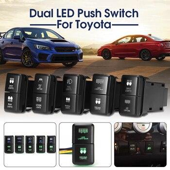 12 v Đẩy Chuyển Đổi Dual LED Thanh Ánh Sáng/Công Việc/Sương Mù Tại Chỗ/Xếp Nhẹ Đối Với Toyota Xe Prado hilux Landcruiser