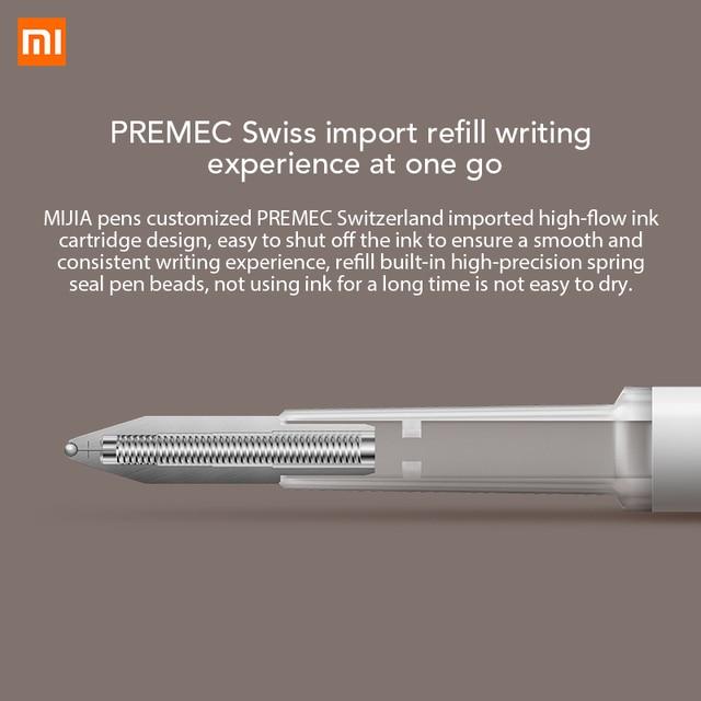 Xiaomi Mijia Pen with 0.5mm Swiss Refill Sign Pen 143mm Rolling Roller Ball Mi Xiomi Sign Signing Ballpoint Pen 2 2