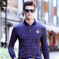 Men Polo shirt 2017 spring autumn long sleeved stripe polo shirt men high quality brand polo Casual solid polo shirt for men
