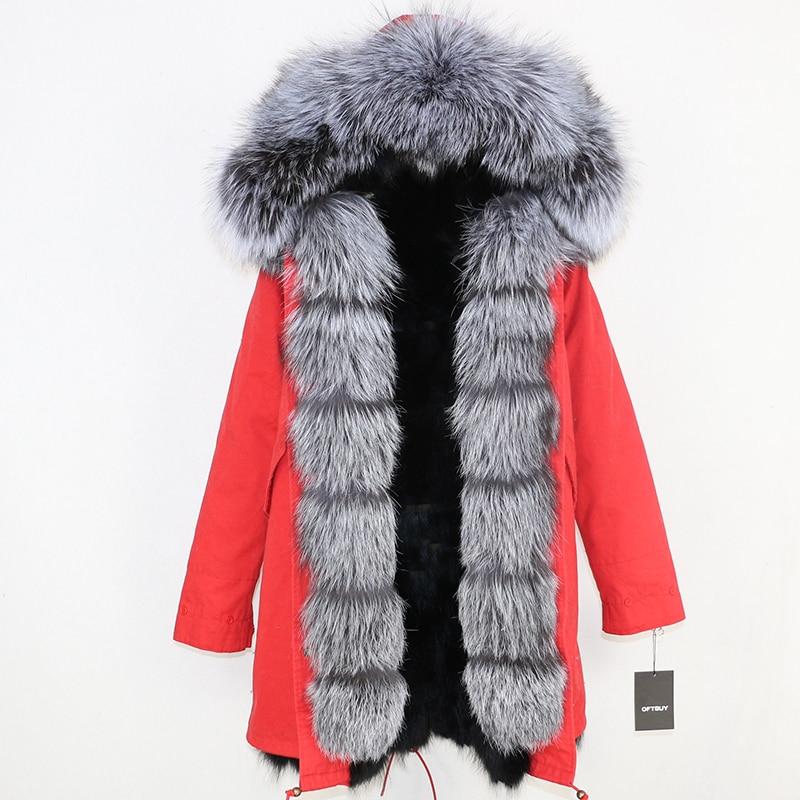 OFTBUY 2019 Winter Jacket Women Long Parka Real Fox Fur Coat Natural Raccoon Fur Collar Hood Thick Warm Streetwear Parkas New 75