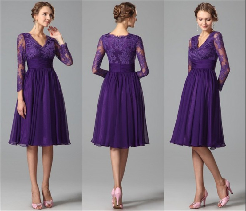 Purple Lace Bridesmaid Dress | Good Dresses