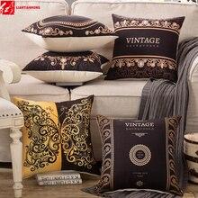 Clásico Vintage Retro Cojín cuadrado de 45*45cm decorativo sofá, asiento, silla volver cojín de Coche Oficina mano almohada