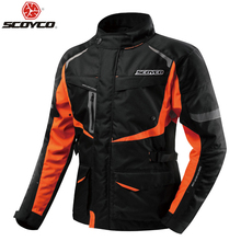 Scoyco JK42 męska motocykl Motocross wodoodporna kurtka ochronny sprzęt Off Road odzież Protector odzież sportowa utrzymuj ciepło