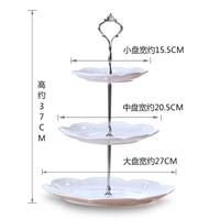 European ceramics three layer of fruit dish basket cake tea room creative center plate modern birthday gift
