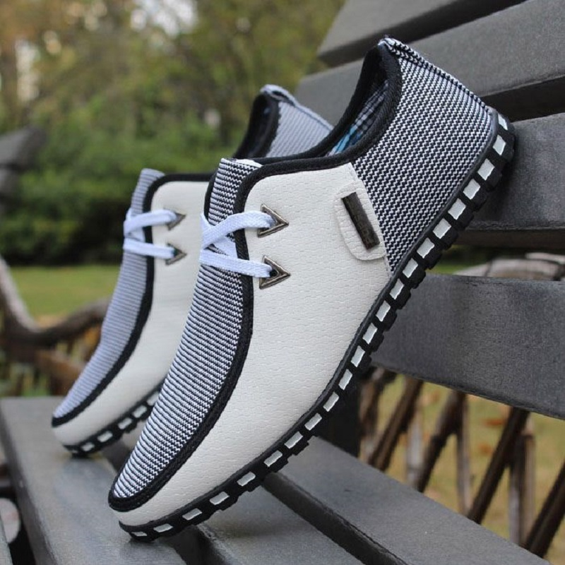 Designer Men Casual Shoes Leather Loafers Lace Up Driving Shoes Trainers Flats Slip On SIZE 38-47 White Black Chaussure Homme high end breathable men casual shoes loafers genuine leather lace up rubber handmade slip on sewing lazy shoes italian designer