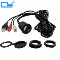 1m 2m Car Dash Mount Installation USB AUX 1 8 2rca Extension Data Av Cable Waterproof