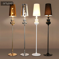 Artpad Modern Standing Floor Lamp AC110V 220V Foot Switch E27 LED Floor Lamps for Living Room Study Bedroom Luminary Lighting